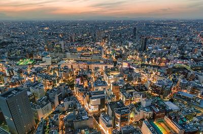 Ikebukuro and Tokyo Dusk