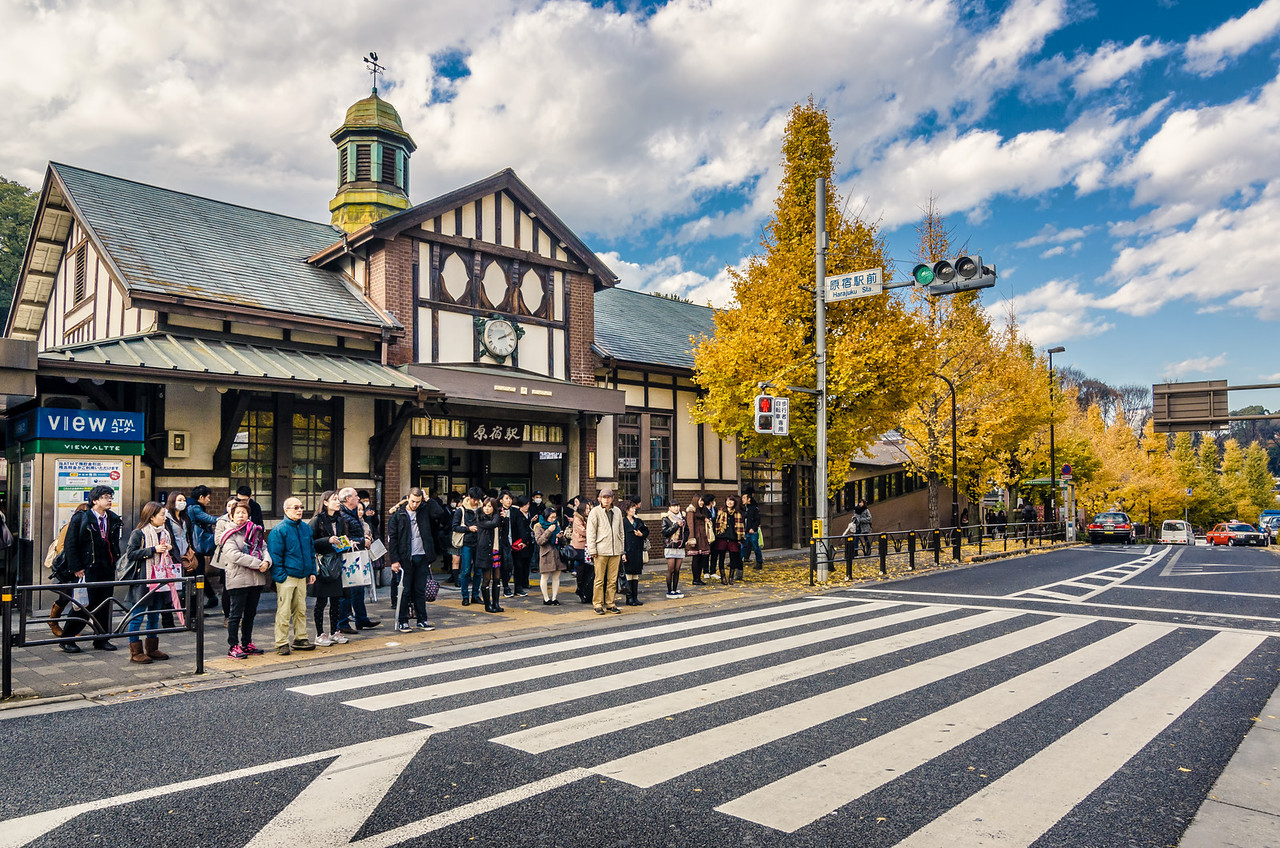 Harajuku Station in Autumn